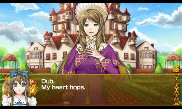 Hearts usually skips, but Alice's heart hops.