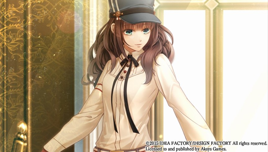 Cardia is our heroine. As the perspective sometimes changes from Cardia's point of view, you occasioanlly get to see her as a sprite and she also has her own CG, as seen above.